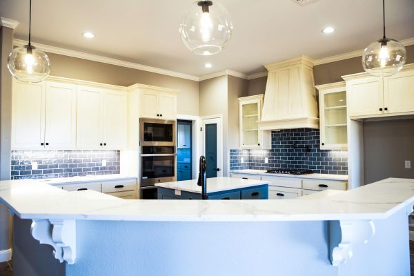 kitchen in a new home