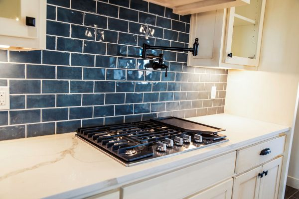 backsplash and stove in new house