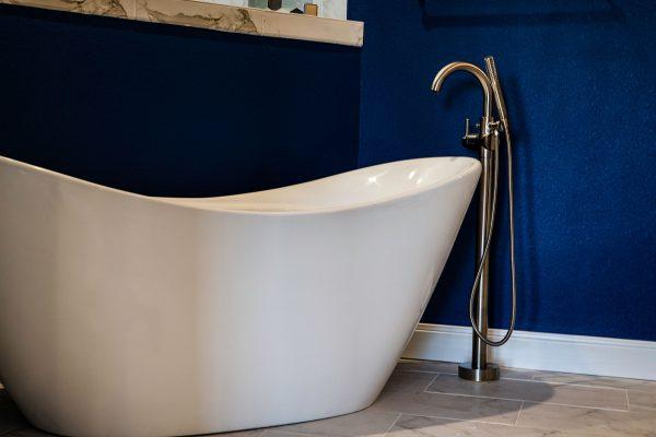 close up of bath tub
